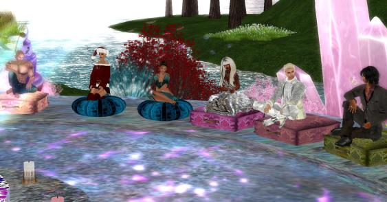 spiritual gathering on Wellspring Island in Second Life